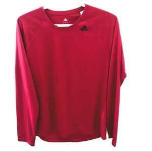 Adidas Climalite long sleeve mesh exercise top